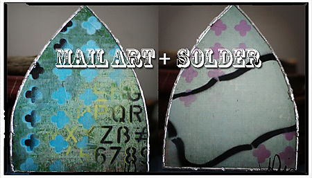 Mail art plus solder copy